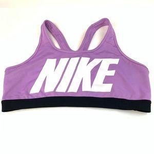 Nike Sports Bra Womens Size XL Spell Out Purple